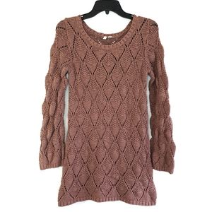 Frenchi Pink Rose Cable Knit Tunic